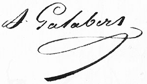 signature Galabert